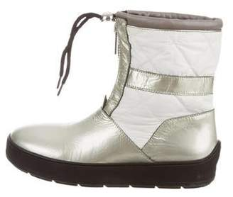 Aquatalia Metallic Patent Leather Ankle Boots
