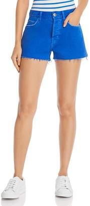 Current/Elliott The Boyfriend Raw-Edge Denim Shorts in Nautical Blue