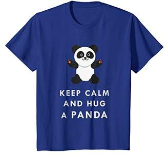 Keep Calm And Hug Cute Adorable Panda Baby Bear T Shirt