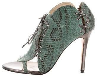 Camilla Skovgaard Alligator Round-Toe Sandals