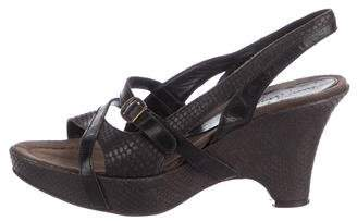 Henry Beguelin Embossed Wedge Sandals