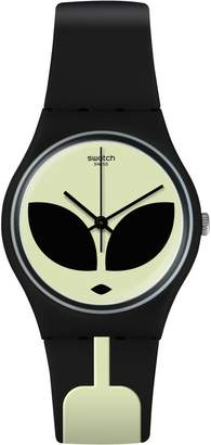 Swatch Think Fun Telefon Maison Printed Silicone Strap Analog Watch