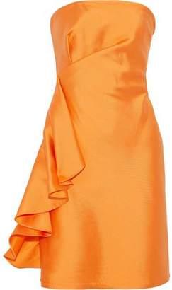 Sachin + Babi Ortakoy Strapless Ruffled Duchesse Satin-Twill Mini Dress