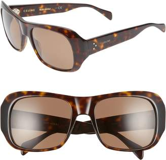Celine 56mm Special Fit Polarized Wrap Sunglasses