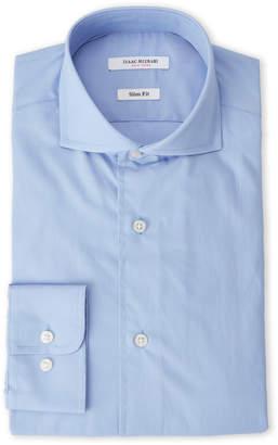 Isaac Mizrahi Ice Blue Slim Fit Broadcloth Dress Shirt