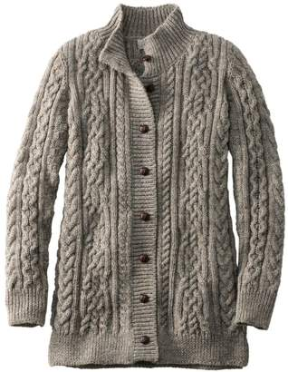 L.L. Bean L.L.Bean 1912 Heritage Irish Fisherman Sweater, Long Cardigan