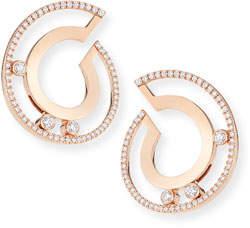 Möve Messika 18k Roman Small Diamond Hoop Earrings