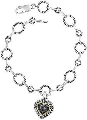 Fine Jewelry Ss 1/4cttw Bk Dia Brac