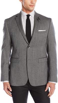 Original Penguin Men's Two Button Slim Fit Donegal Blazer, Grey