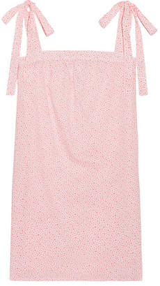 Three J NYC Stella Printed Cotton-poplin Nightdress - Coral