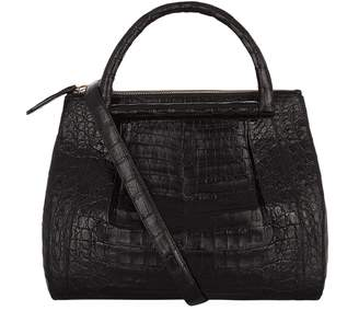Nancy Gonzalez Medium Plisse Crocodile Tote