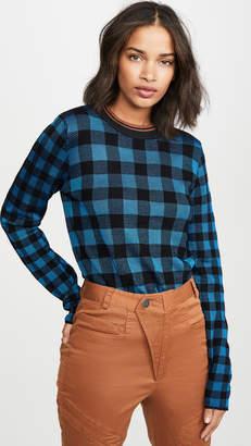 Scotch & Soda High Neck Check Pattern Sweater