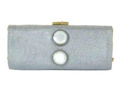 Jimmy Choo pristine (PR Antique Silver Stingray Clutch Bag * Layaway Available *