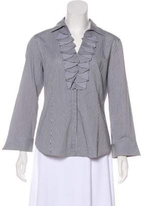 Lafayette 148 Long Sleeve Button-Up Blouse