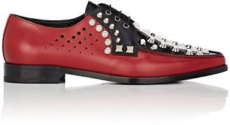 Prada Women's Studded Colorblocked Leather Oxfords