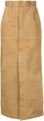 Le Ciel Bleu front slit high waisted skirt