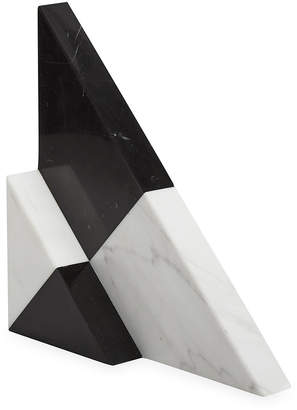 Jonathan Adler Canaan Marble Bookends - Set of 2 - Black/White