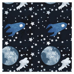 To the Moon and Beyond Self-Launch Wrapping Paper