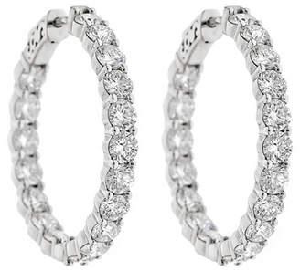Neiman Marcus Diamonds 14k Diamond Hoop Earrings, 8.0tcw