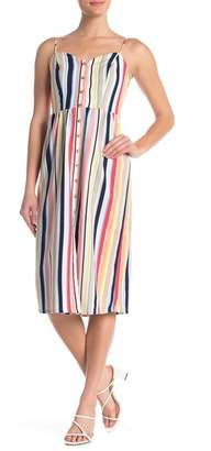 Love, Nickie Lew Stripe Woven Midi Dress