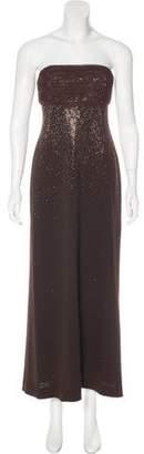St. John Strapless Evening Dress