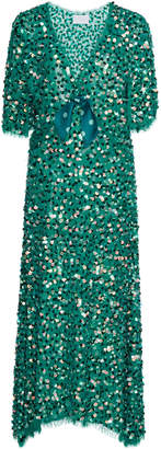 Luisa Beccaria Sequin Midi Dress