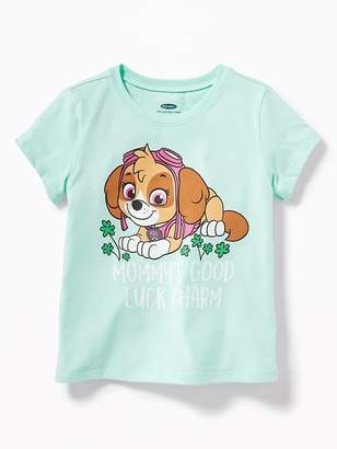 """Old Navy Paw Patrol """"Mommy's Good Luck Charm"""" Tee for Toddler Girls"""