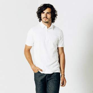 DSTLD Pique Polo in White