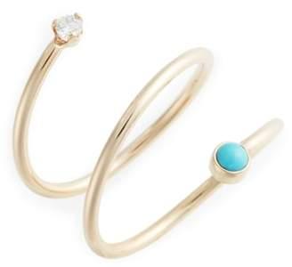 Chicco Zoe Turquoise & Diamond Wrap Ring