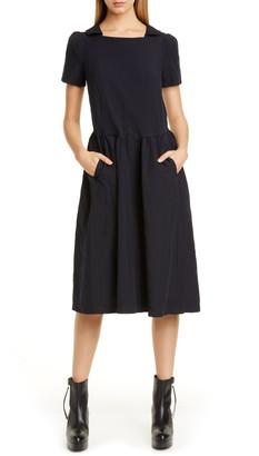 Comme des Garcons Square Neck Midi Dress