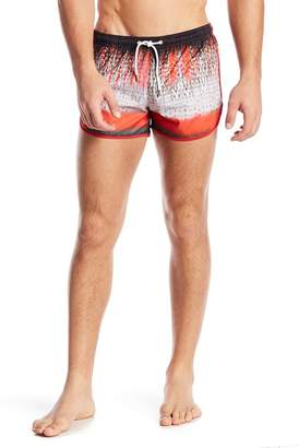 Parke & Ronen Sprinter Patterned Swim Shorts