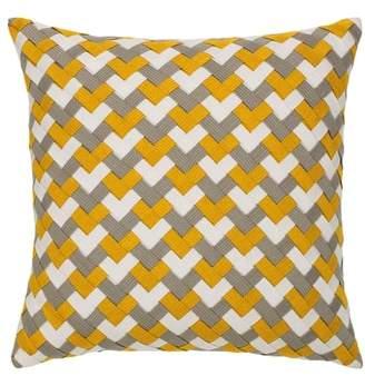 Metallic Basket Weave Indoor/Outdoor Accent Pillow