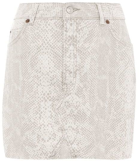 TopshopTopshop Moto denim coated mini skirt