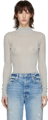 Rag & Bone Silver Raina Turtleneck
