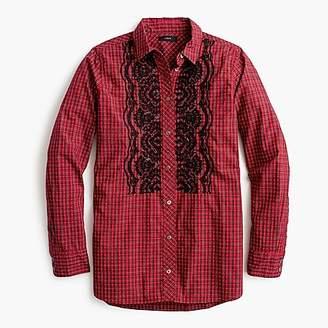 J.Crew Tall boy shirt in embellished plaid