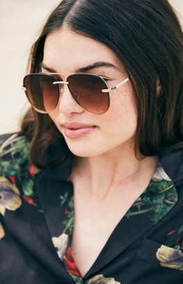 La Hearts Rimless Aviator Sunglasses