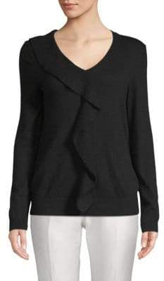 Saks Fifth Avenue Ruffled V-Neck Sweater