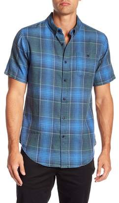 Ezekiel Shore Life Short Sleeve Woven Tonal Plaid Regular Fit Shirt
