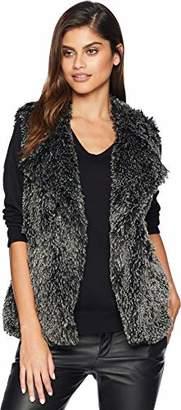 Michael Stars Women's Cozy Fur Short Vest