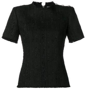 Balmain buttoned tweed blouse