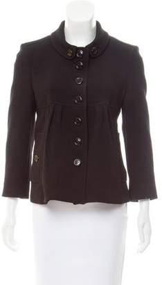 Burberry Pleated Wool Jacket