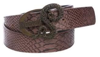 Just Cavalli Embossed Leather Belt