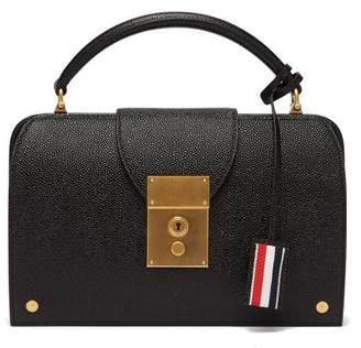 Thom Browne Mrs. Thom Leather Pocketbook Bag - Womens - Black