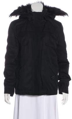 Louis Vuitton Fur-Trimmed Hooded Jacket