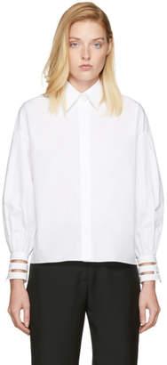 Fendi White Transparent Cuff Shirt