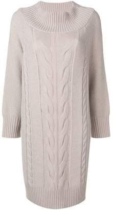Lorena Antoniazzi cable knit sweater dress