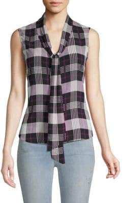 Calvin Klein Checker Sleeveless Top
