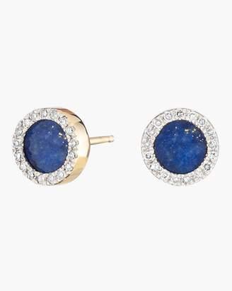 Adina Lapis and Diamond Disc Post Earrings