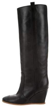 Chanel Wedge Knee-High Boots