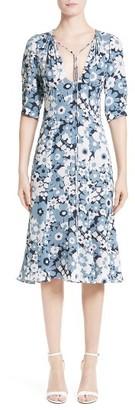 Women's Michael Kors Floral Print Silk Fit & Flare Dress $1,950 thestylecure.com